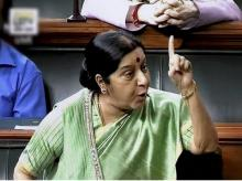 External Affairs Minister, Sushma Swaraj, Lok Sabha, New Delhi