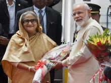 File photo of Narendra Modi and Sheikh Hasina