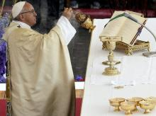 Pope Francis, Easter Mass, St. Peter's Square, Vatican