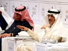 Saudi minister of finance Mohammed Al-Jadaan gestures during the 2017 budget news conference in Riyadh, Saudi Arabia