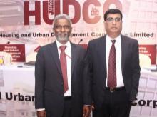 Dr. Ravi Kanth Medithi, CMD, Hudco and Rakesh Kumar Arora, director finance, Hudco