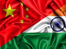 China, flag, India