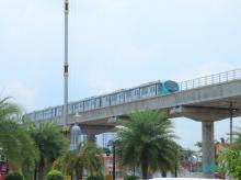Kochi Metro taking a trial run at Edappally  Photo: Twitter