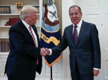 Donald Trump with Russian Foreign Minister Sergey Lavrov (right) Photo: MFA Russia Twitter handle