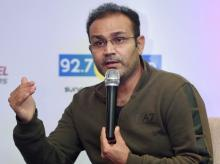 Virendra Sehwag during a promotional event in Mumbai