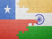 Chile, flag, India