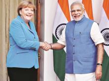 Narendra Modi, Angela Merkel, India Germany