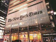 In May, the Times Company reported strong digital growth, including a 19 per cent gain in digital advertising revenue. Photo: Reuters