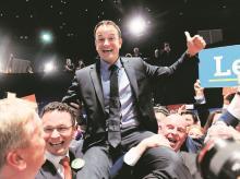 Leo Varadkar after winning the Fine Gael parliamentary elections in Dublin, Ireland on Friday. Photo: Reuters