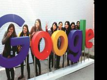 Triggering a talent war, these global firms like Google (pictured) are increasing workforce