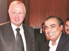 Bob Dudley (left) & Mukesh Ambani