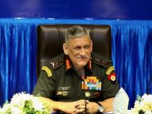 Army Chief General Bipin Rawat addresses the media after the Combined Graduation Parade held at Air Force Academy, Dundigal in Hyderabad.