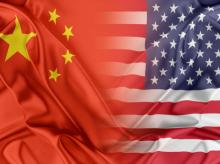 China, USA, flag
