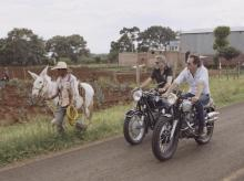 George Clooney and Rande Gerber on a prior bike trip through Mexico. (Photo: Bloomberg/Casamigos Tequila)