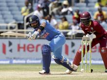 Evin Lewis guides West Indies to a 9-wicket victory against India