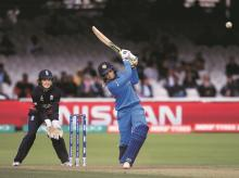 FILE PHOTO Veda Krishnamurthy bats during the ICC Women's World Cup 2017 final match between England and India at Lord's in London on Sunday |