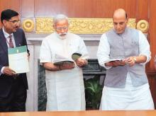 Prime Minister Narendra Modi (in picture with his cabinet colleagues) released the National Disaster Management Plan, India's first ever national plan, on June 1, 2016