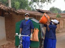 Chhattisgarh, Ambikapur, village, waste, women