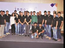 Innoviti's founder Rajeev Agarwal  with his team