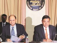 RBI Governor Urjit Patel (right) with Deputy Governor Viral Acharya  (Photo: Kamlesh Pednekar)