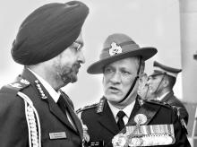 Army Chief Gen Bipin Rawat (right) with Air Chief Marshal Birender Singh Dhanoa of the Indian Air Force