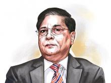 CJI Dipak Misra. Illustration: Ajay Mohanty