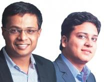Sachin Bansal (left) and Binny Bansal