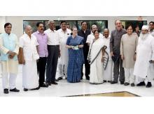 Ali Anwar can be spotted at the extreme left in a photo of the participants in the opposition meet.