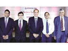 (From left) UTI Mutual Fund Group President & Head-Equity Vetri Subramaniam, Birla Sun Life MF Co-CIO Mahesh Patil, Reliance Capital Global Head-Equities Sunil Singhania, HDFC MF ED & CIO Prashant Jain and ICICI Prudential MF ED & CIO S Naren at the