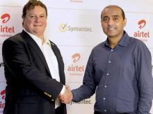 Airtel, Symantec, Symantec CEO Greg Clark with Bharti Airtel MD and CEO Gopal Vittal