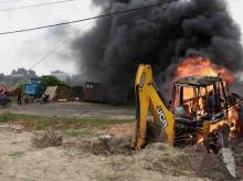 protest, demolition, illegal buildings