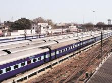 Railway, Train, Track,