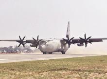 Hercules transport aircraft