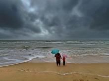 Chennai, rains, Marina beach