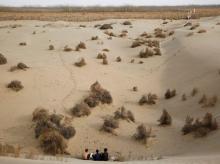Taklamakan desert, Xinjiang, China, tunnel
