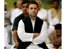 Congress vice-president Rahul Gandhi  attending a prayer meeting at the memorial of former Prime Minister, the late Indira Gandhi on her death anniversary in New Delhi. Photo: PTI