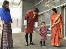 Sushma Swaraj, Jigme Khesar Namgyal Wangchuck, Jetsun Pema, India, Bhutan