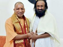 Sri Sri Ravi Shankar, Yogi Adityanath