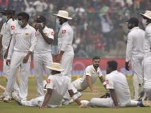 India Vs Sri Lanka test, Day 2 at Kotla stadium, Delhi air stops play, Delhi air