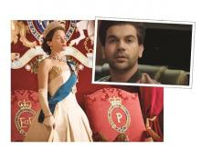 (L to R) Netflix is currently running ads for its show 'The Crown' on hoardings and in the past it has used actor Rajkumar Rao  to promote 'Narcos'