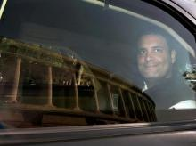 Congress President Rahul Gandhi arrives for  the winter session of Parliament, in New Delhi on Monday | Photo: PTI