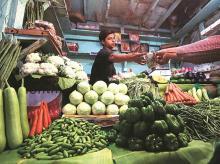 fruit and vegetables market, Inflation