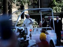 Pope Francis on his visit to Chile. Photo: Reuters.