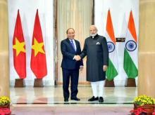 Prime Minister Narendra Modi and his Vietnamese counterpart Nguyen Xuan Phuc