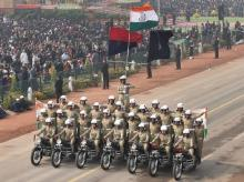 Republic Day parade,BSF,Border Security Force,Republic Day,President Ram Nath Kovind, Ram Nath Kovind, Prime  Minister Narendra  Modi, Narendra Modi, Asean leaders, Indian Army,  Royal Enfield Bullet ,Barack Obama,
