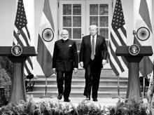 Modi and Trump at White House