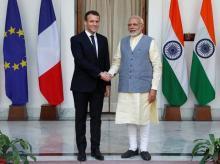 Emmanuel Macron,Narendra Modi