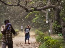 dust strom in delhi, thunderstorm, light rain
