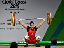 Indian Weightlifter Punam Yadav competes in women's 69kg Weightlifting category during the Commonwealth  Games 2018 in Gold Coast.   File photo: PTI