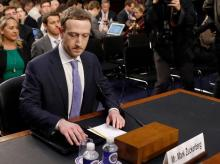 Mark Zuckerberg at Congressional hearing